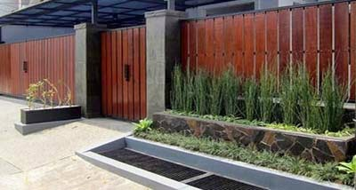 10 desain pagar cantik untuk rumah minimalis griya