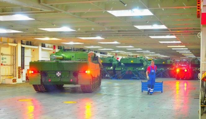24 MBT Leopard A4 dan 28 Tank Marder Akan Tiba taggal 28 Agustus