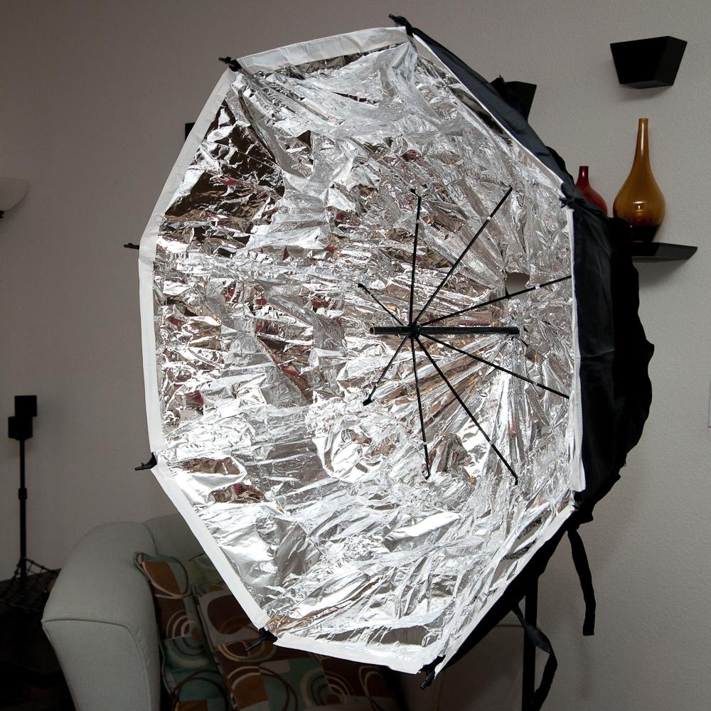 Umbrella Like A Softbox: DIY 39'' Umbrella Soft Box For Less Than $30