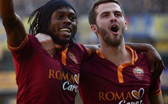 La Roma venció al Milán con goles de Pjanic y Gervinho