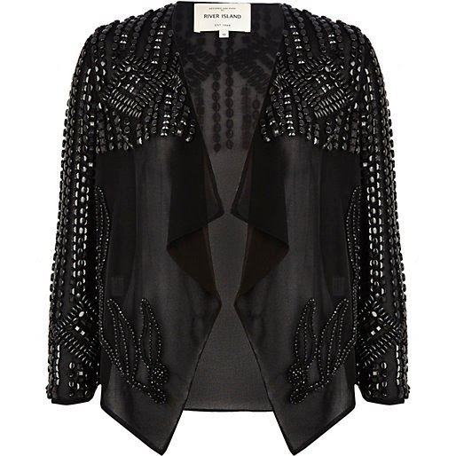 black beaded jacket