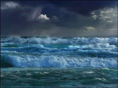 Como pintar el azul del mar