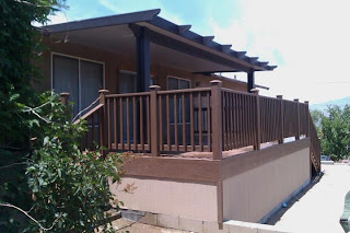 : Custom Composite Deck and Patio Cover in Lake Isabella, California