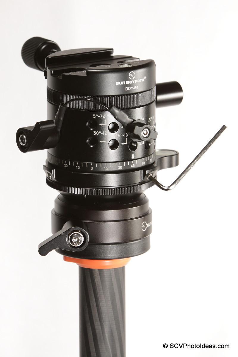 Sunwayfoto DYH-66i & DDP-64M+DDY-64 - security screws