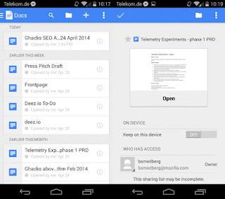 aplicaciones ofimáticas para android