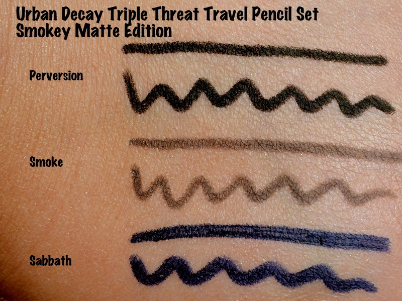Urban Decay Triple Threat Travel Pencil Set Smoky Matte Edition