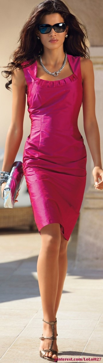 Classy pink dress