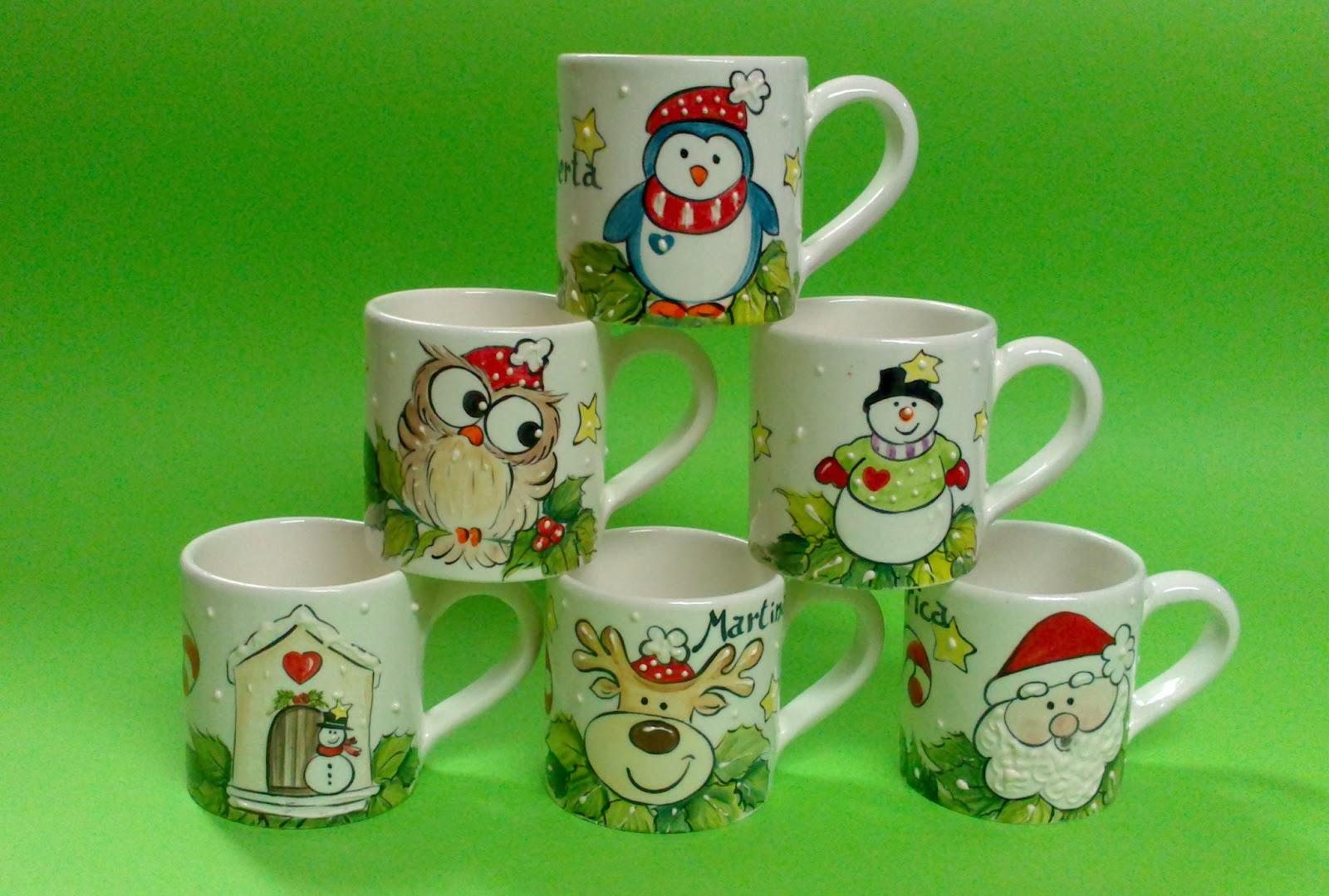 Ceramica come mestiere tazze mug con soggetti natalizi for Tazze da regalare a natale