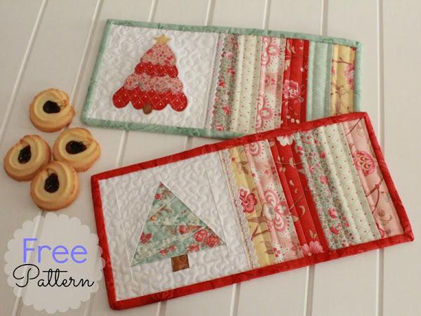 Free Pattern- Christmas Mug Rugs