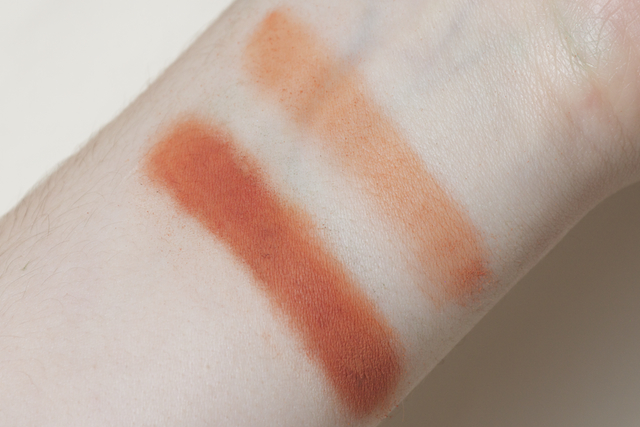 concrete minerals pro matte eyeshadow eye shadow loose powder swatch swatches ember bright orange sugarpill dupe flamepoint
