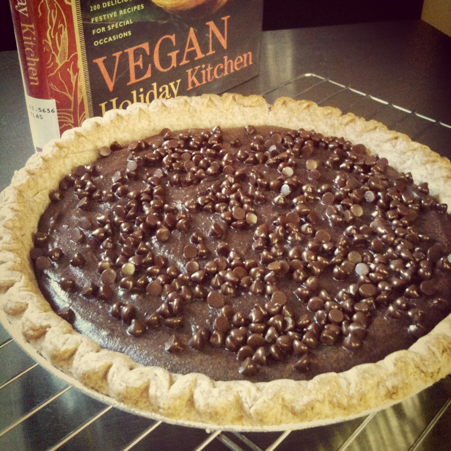 Chocolate, Cashew, And Maple Pie Recipe — Dishmaps
