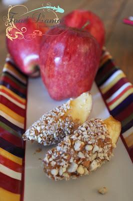 Peanut Butter & Honey-Caramel Dipped Apples