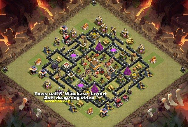 Anti dragon amp hog riders war base layout for th8 by saviior mycoclab