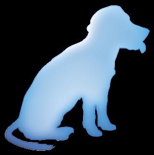 Perro azul. Imagen de prueba de como se añade una imagen a un blog.
