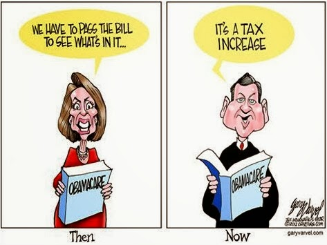 Pelosi, Obama Care, political cartoon