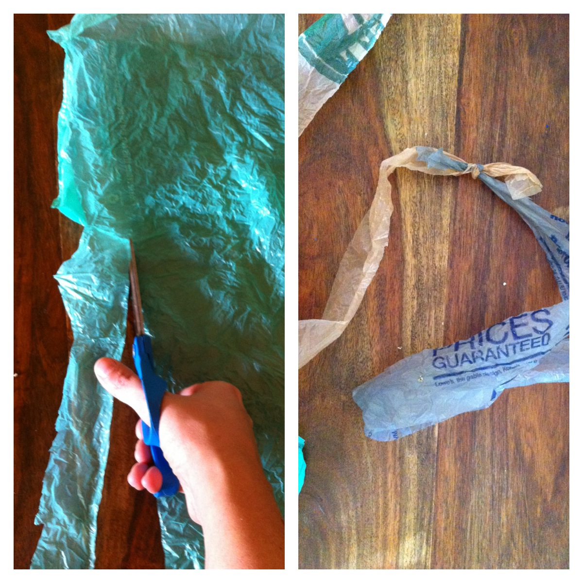 how to make a jump rope from plastic bags