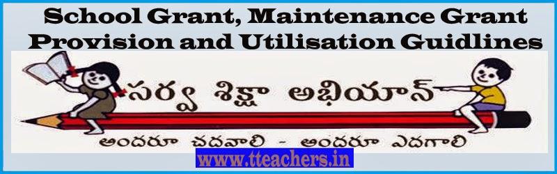 School Grant, Maintenance Grant-Provision and Utilisation Guidlines