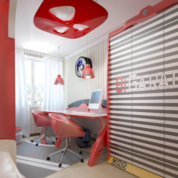 ide kreatif kamar tidur remaja dari eugene zhdanov