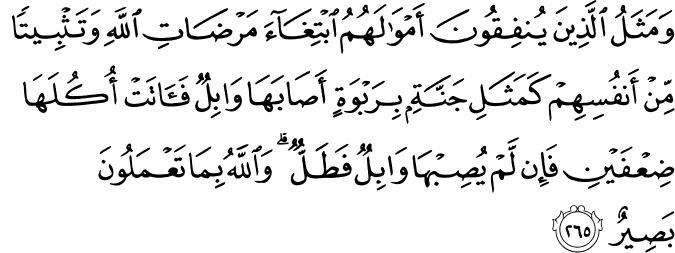 Surat Al-Baqarah Ayat 265