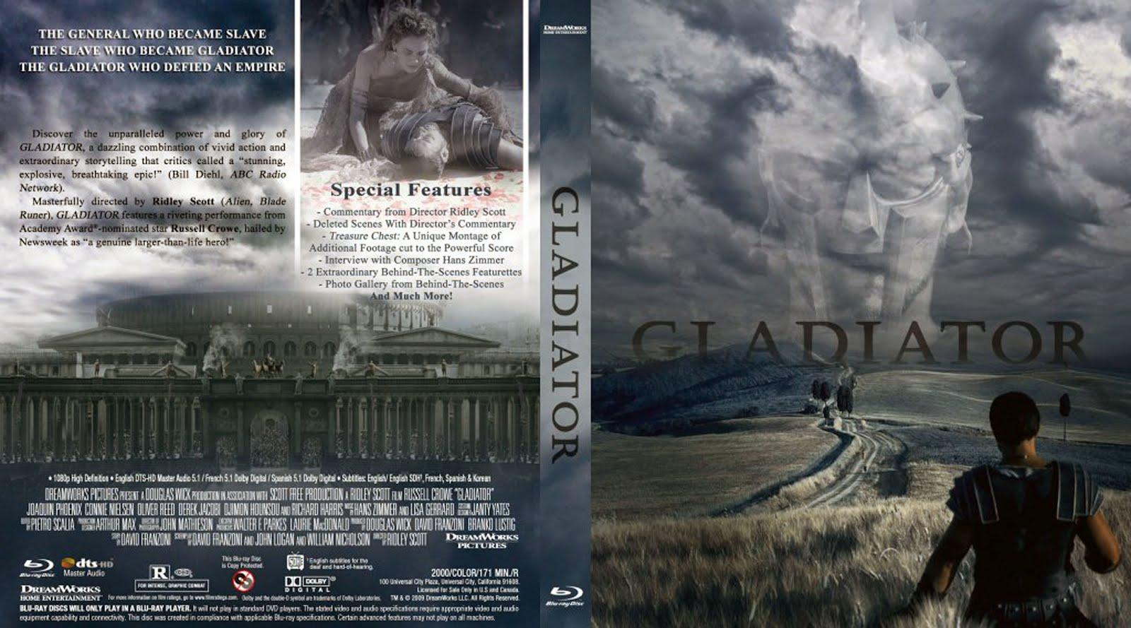 Gladiator Blu-ray Dvd Cover