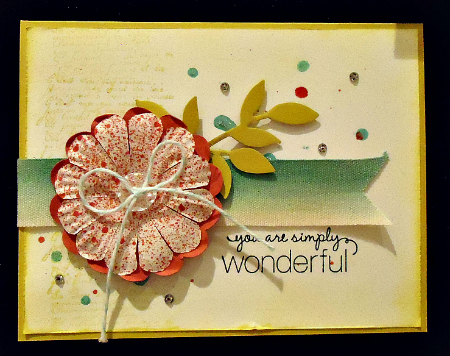 You Are Wonderful Card with Splattering Techniques