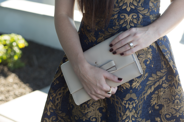 Asos Chi Chi London Brocade Dress