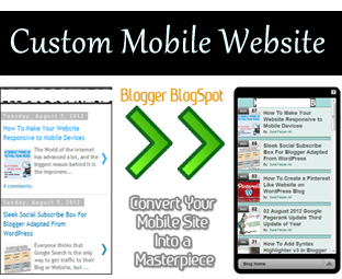 How to Customize Or Edit Blogger Mobile Templates