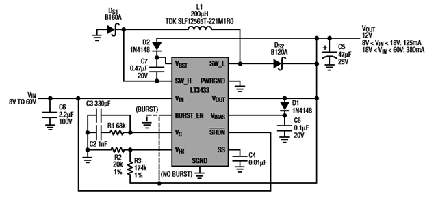 Lt3433 Based Step Up Step Down Dc To Dc Converter Circuit