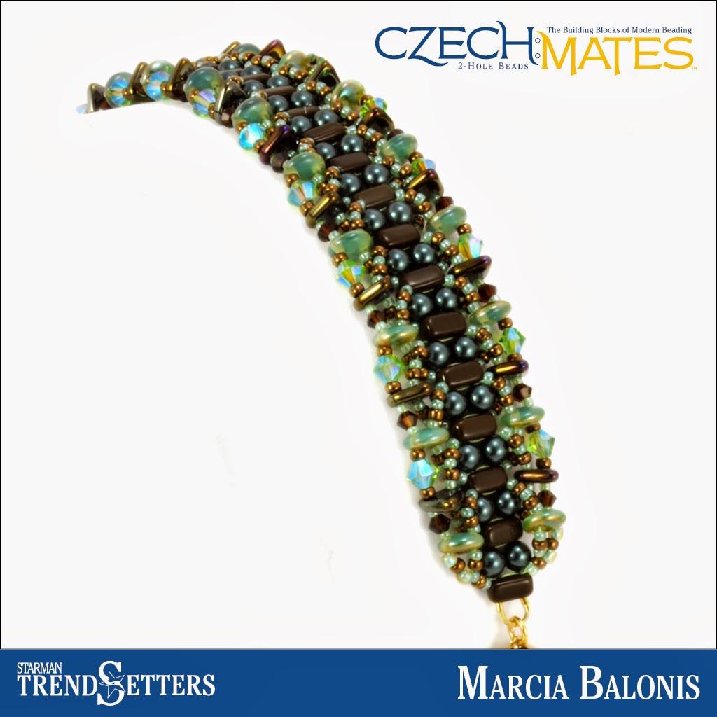 CzechMates Brick/Triangle bracelet by Starman TrendSetter Marcia Balonis