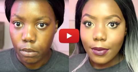 tutorial de maquiagem transformação