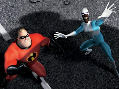 Mr. Incredible Frozone The Incredibles 2004 animatedfilmreviews.filminspector.com