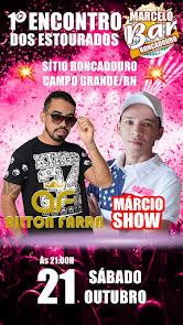 Ailton Farra e Márcio Show neste sábado (21) no Sítio Roncadouro, em Campo Grande