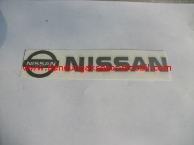 Emblem Alumunium 3M Besar Chrome Nissan
