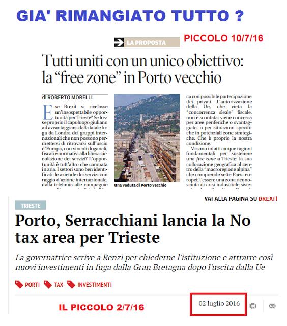 LA NO TAX AREA E' L' UNICA POSSIBILITA' DI RILANCIO ECONOMICO DI PORTO VECCHIO E DELLA CITTA'
