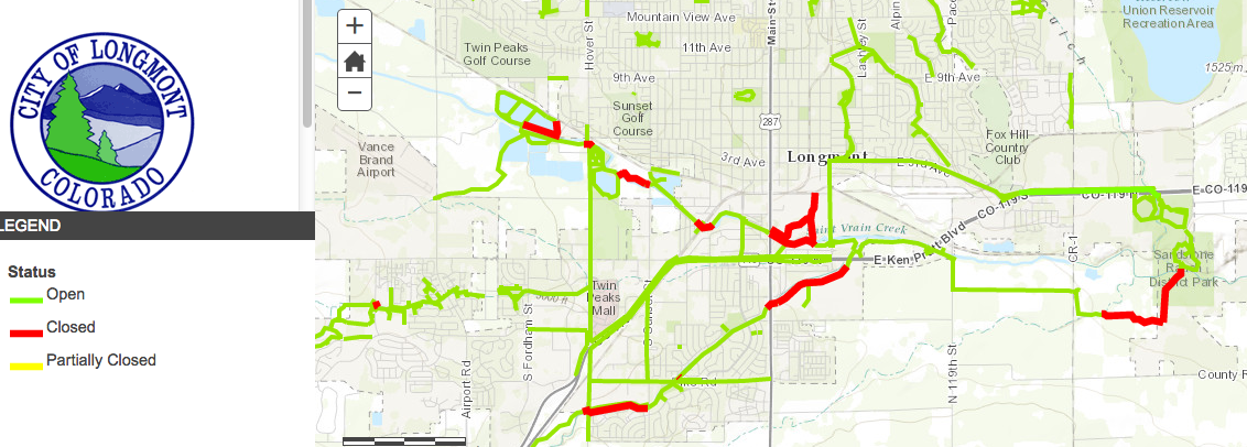 Longmont Bike PathsTrail Closures 2015 Longmont 100 Things to
