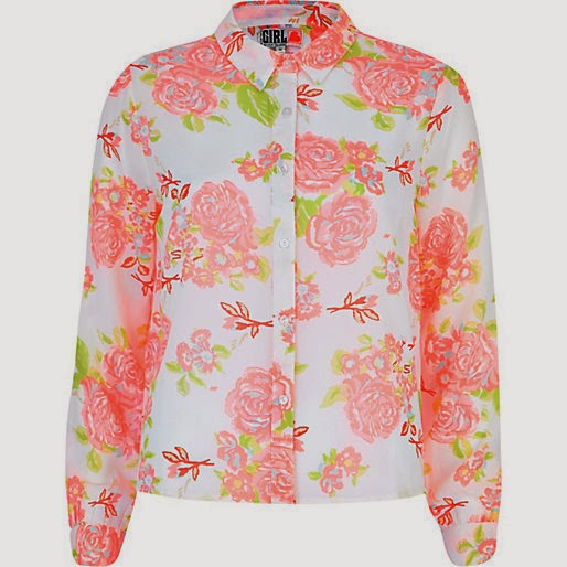 river island flower shirt