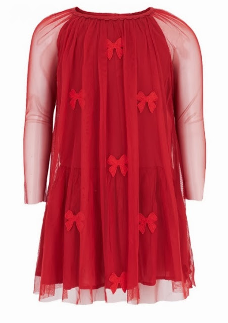 Orange A-Line Bow Dress By Stella McCartney