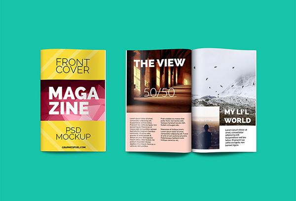 Download Gratis Mockup Majalah, Brosur, Buku, Cover - Magazine PSD Mockup