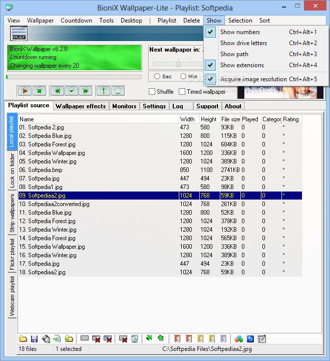 برنامج تغيير خلفيات سطح المكتب بشكل تلقائي Download BioniX Wallpaper-Lite 8.16.0