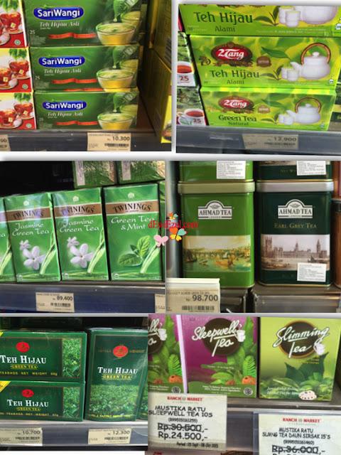 harga teh hijau, Aneka Pilihan Teh Hijau Plus harganya :