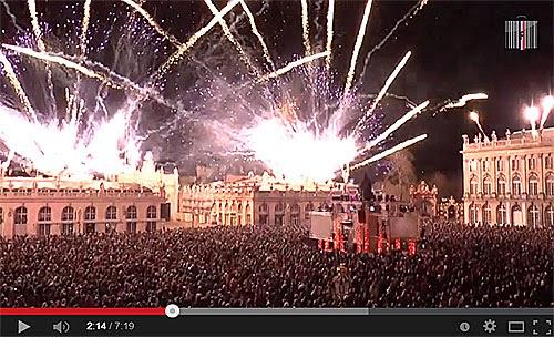 La légende de Saint Nicolas enflamme la Place Stanislas de Nancy (54).