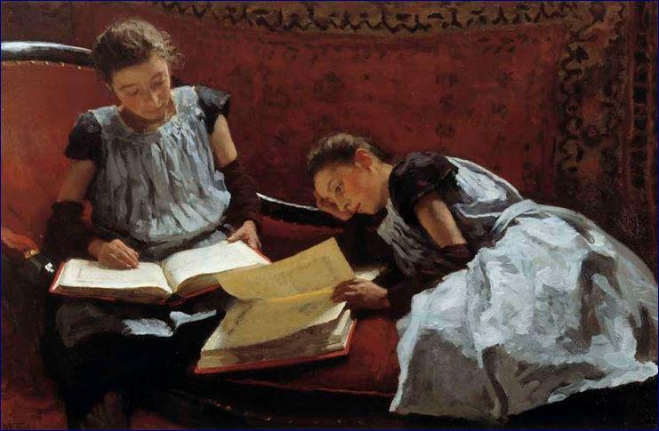 De maarschalk daar zijn de zusjes arntzenius - Schilderij kamer jongen jaar ...
