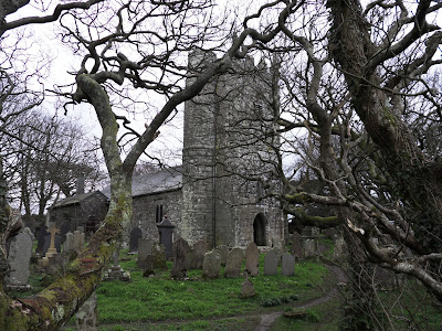 St Denys church St Dennis Cornwall