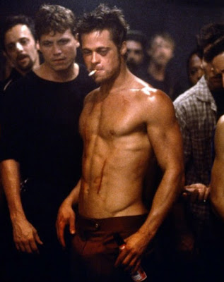 brad pitt body in fight club. fight club brad pitt body