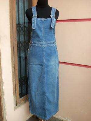 Contoh Baju Overall Jeans Untuk Muslimah
