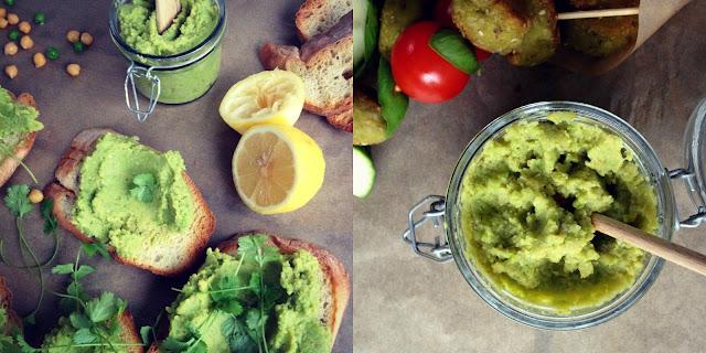 Grønærtehummus - mit livs kogebog