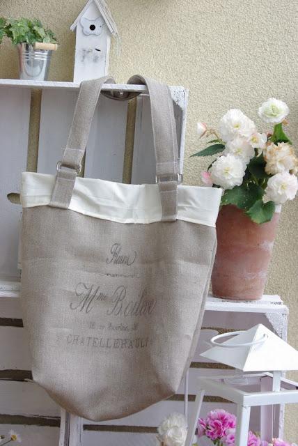 lniana torba na zakupy, torba na zakupy