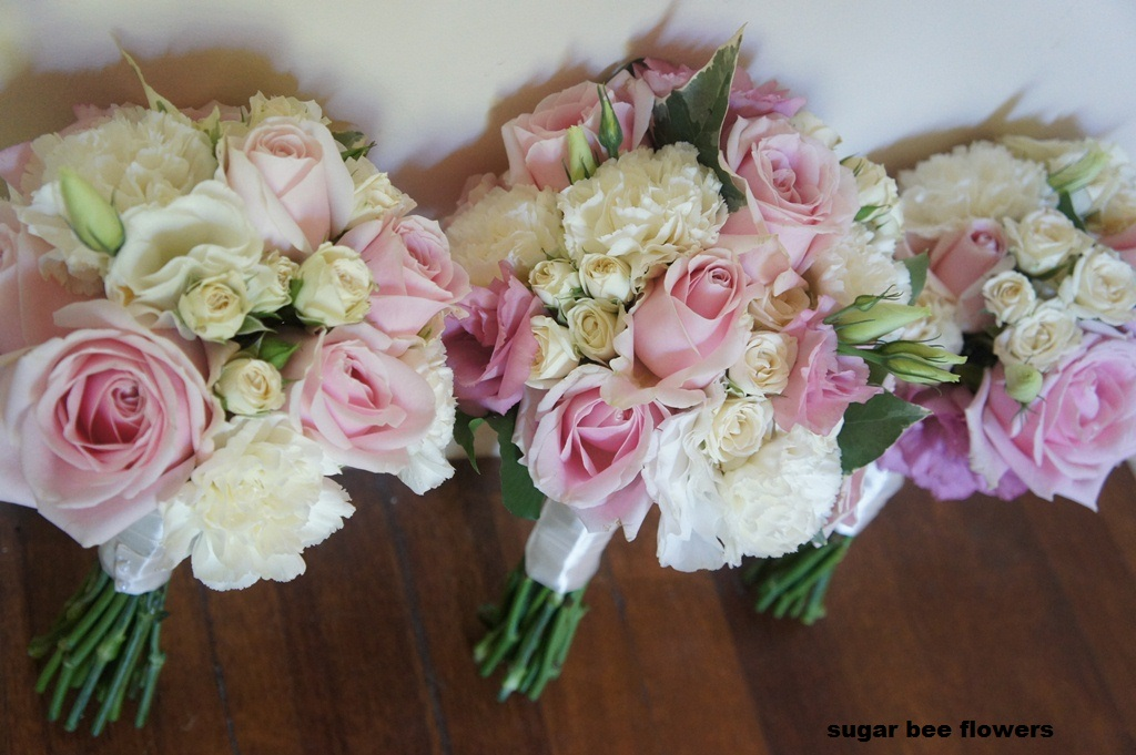 Bridal Bouquets Pink And White : Sugar bee flowers pastel pink and white sweet wedding