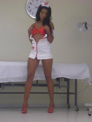 Rocio Miranda Rocio Miranda en sexy disfraz de emfermera.