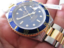ROLEX SUBMARINER SUNBURST BLUE DIAL - TWO TONE - ROLEX 16613